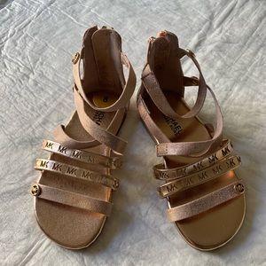 Michael Kors little girls sandals size: 8